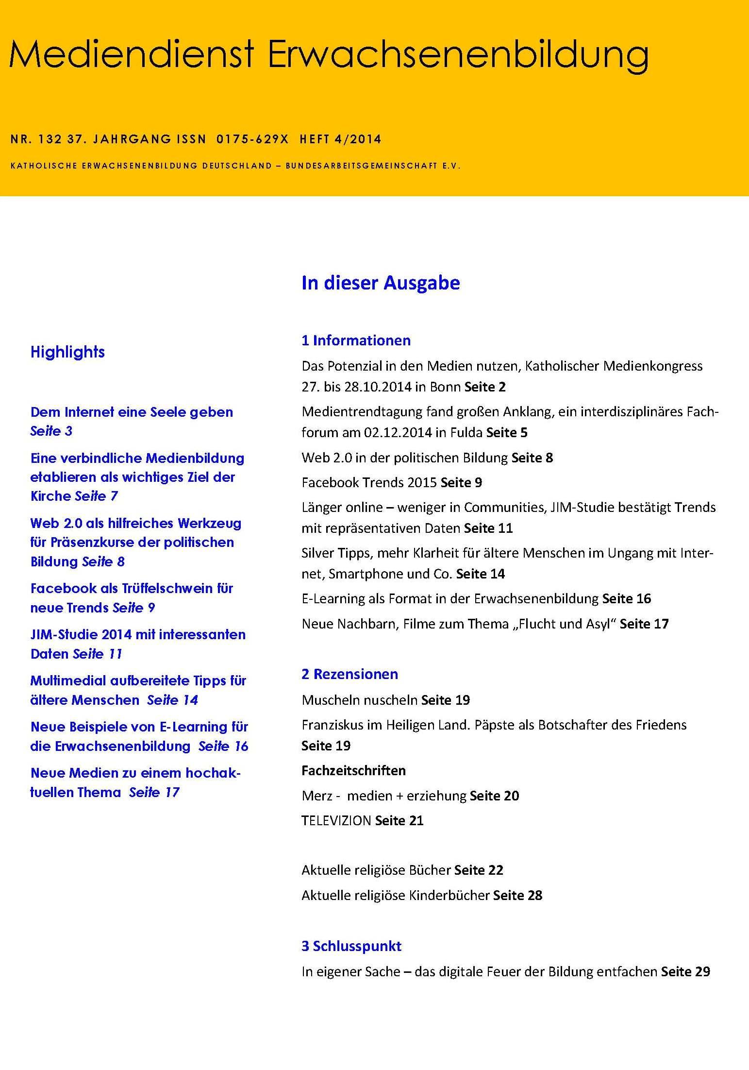 Info-Dienste | KEB Deutschland